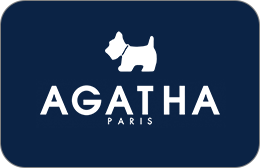 Cartes cadeaux Agatha en réduction