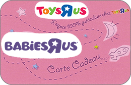Cartes cadeaux Babies'R'us en réduction