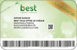 Best chèque - Culture