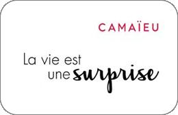 Cartes cadeaux Camaieu en réduction