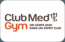Cartes cadeaux Club med Gym  en réduction