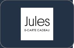 Cartes cadeaux Jules en réduction