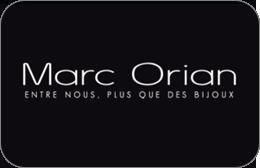Cartes cadeaux Marc Orian en réduction