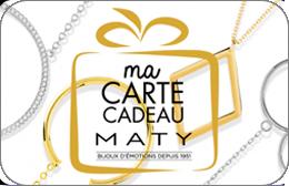 Cartes cadeaux Maty en réduction