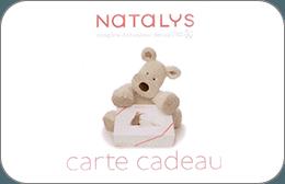 Cartes cadeaux Natalys en réduction