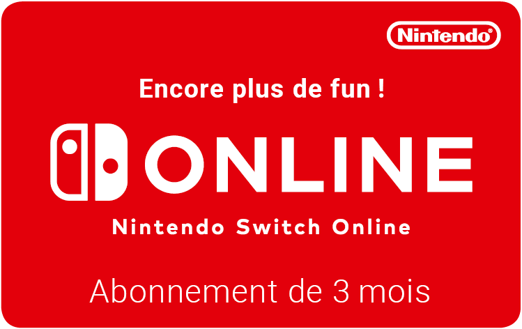 Cartes cadeaux Nintendo Switch Online en réduction