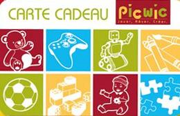 Cartes cadeaux Picwic en réduction