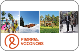Chèques cadeaux Pierre & Vacances en réduction