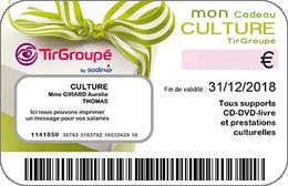 Chèques cadeaux TirGroupe-Culture en réduction